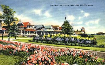 Cottages, Ocean Park - Oak Bluffs, Massachusetts MA Postcard