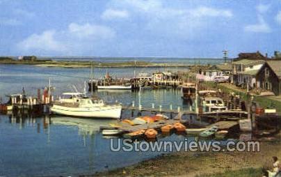 Harbor & Yacht Basin - Oak Bluffs, Massachusetts MA Postcard
