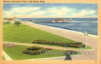 Steamer Arriving at Pier - Oak Bluffs, Massachusetts MA Postcard