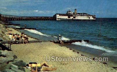 Bathing Beach - Oak Bluffs, Massachusetts MA Postcard