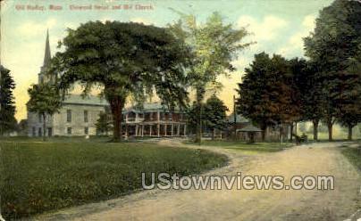 Elmwood House & Old Church - Hadley, Massachusetts MA Postcard