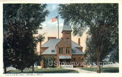 The High School - Orange, Massachusetts MA Postcard