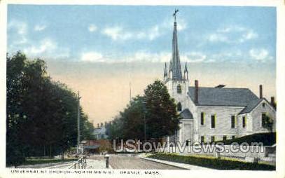 Universalist Church - Orange, Massachusetts MA Postcard