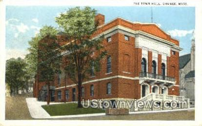 The Town Hall - Orange, Massachusetts MA Postcard