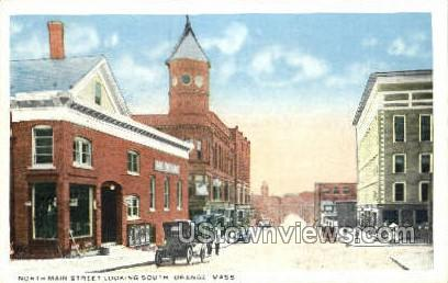 Main St. - Orange, Massachusetts MA Postcard