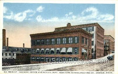 Office & Needle Department - Orange, Massachusetts MA Postcard