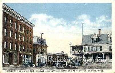 The Square - Orange, Massachusetts MA Postcard