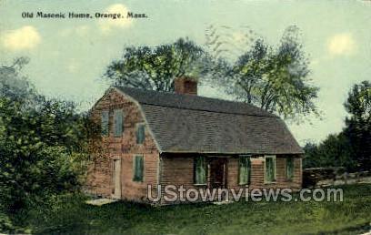 Old Masonic Home - Orange, Massachusetts MA Postcard