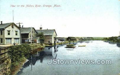 Millers River - Orange, Massachusetts MA Postcard