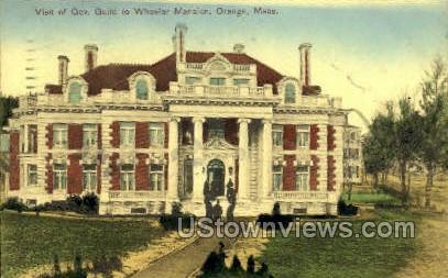 Guild to Wheeler Mansion - Orange, Massachusetts MA Postcard