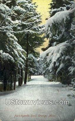 Partridgeville Road - Orange, Massachusetts MA Postcard