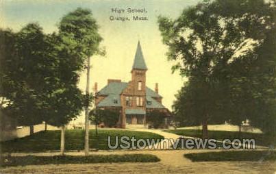 High School - Orange, Massachusetts MA Postcard
