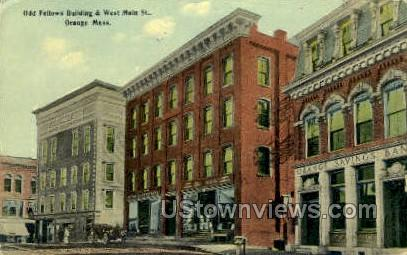 Odd Fellows Building - Orange, Massachusetts MA Postcard