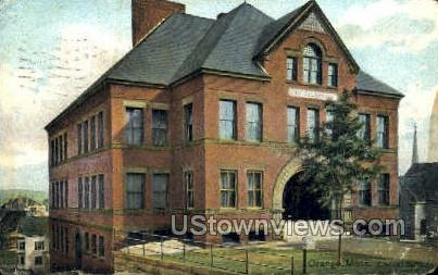 Central School - Orange, Massachusetts MA Postcard