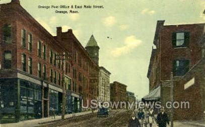 Orange Post Office - Massachusetts MA Postcard