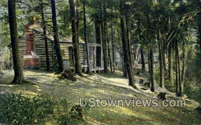 The Log Cabin, Lake Mattawa - Orange, Massachusetts MA Postcard