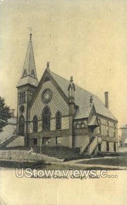 Methodist Church - Orange, Massachusetts MA Postcard
