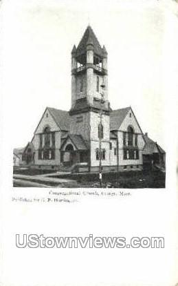 Congregational Church - Orange, Massachusetts MA Postcard
