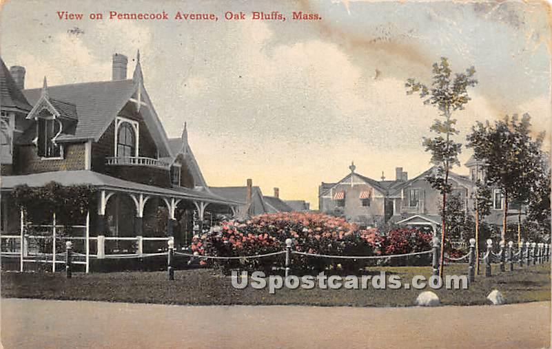 Pennecook Avenue - Oak Bluffs, Massachusetts MA Postcard