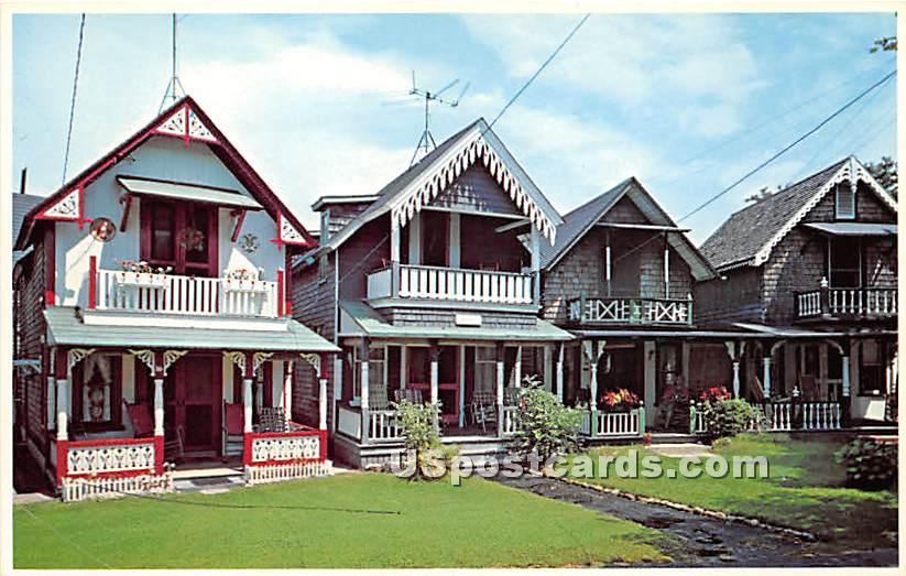 Camp Meeting Ground Cottages - Oak Bluffs, Massachusetts MA Postcard