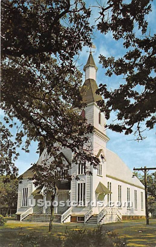 Trinity United Methodist Church built 1878 - Oak Bluffs, Massachusetts MA Postcard
