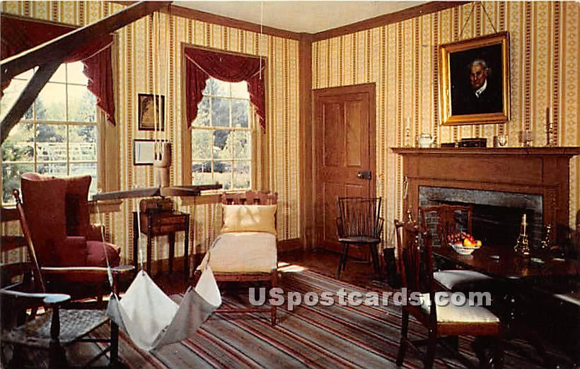 Sitting room at Residence of General Salem Towne - Old Sturbridge Village, Massachusetts MA Postcard