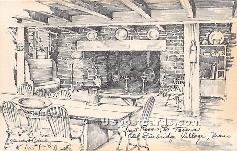 Great Room of the Tavern - Old Sturbridge Village, Massachusetts MA Postcard