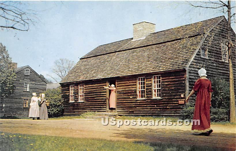 1735 Stephen Fitch House - Old Sturbridge Village, Massachusetts MA Postcard
