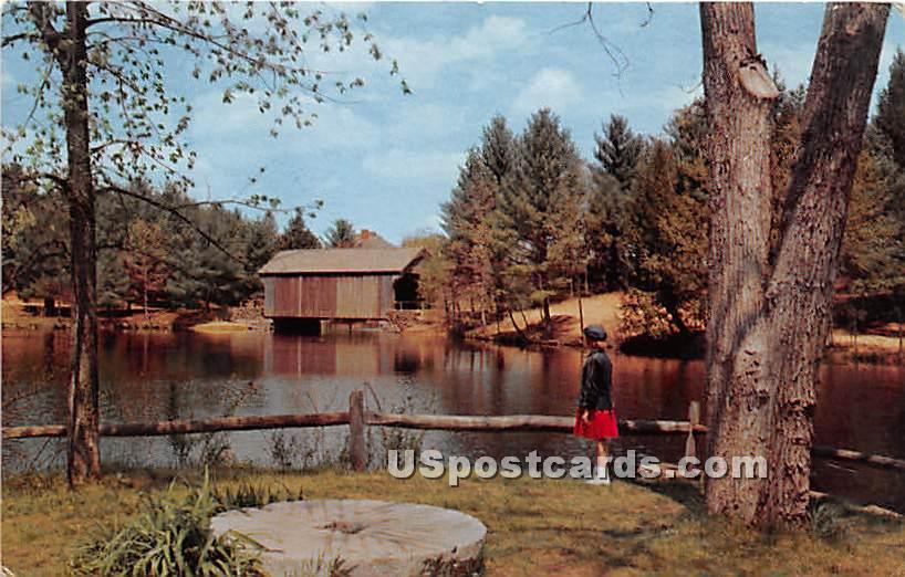 Millpond - Old Sturbridge Village, Massachusetts MA Postcard