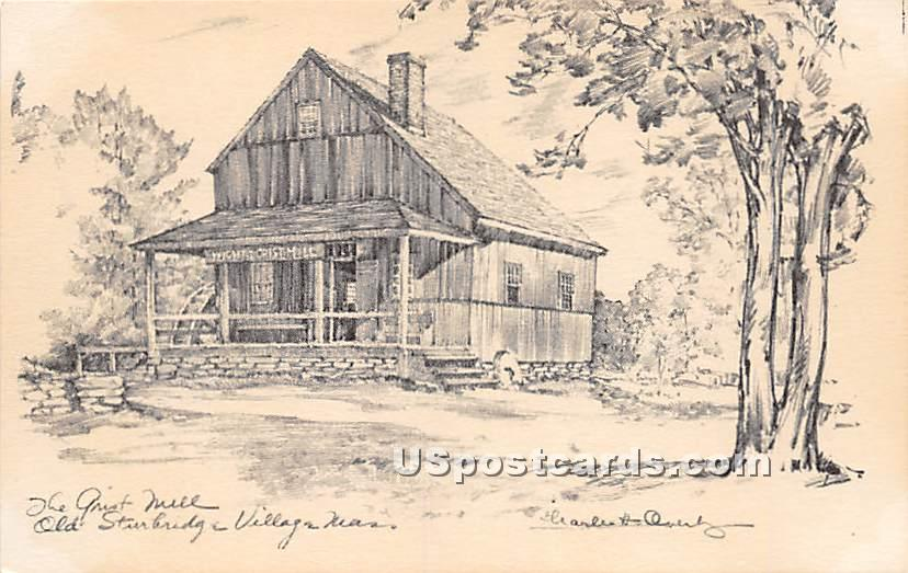 The Girst Mill - Old Sturbridge Village, Massachusetts MA Postcard