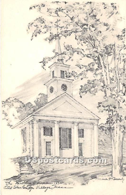 Meeting House - Old Sturbridge Village, Massachusetts MA Postcard