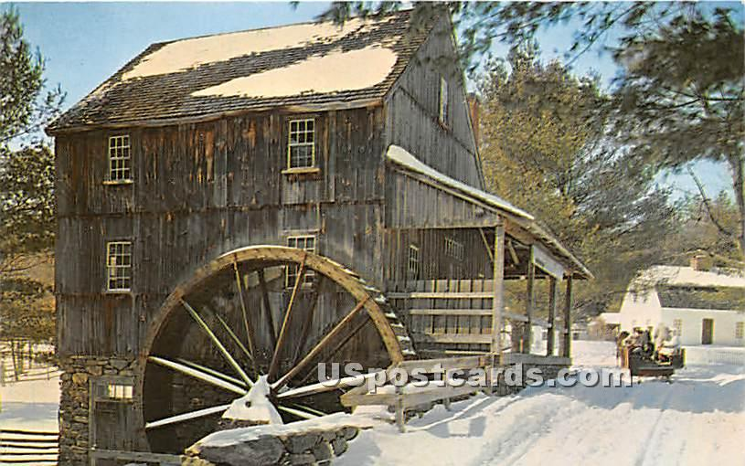 Grist Mill - Old Sturbridge Village, Massachusetts MA Postcard