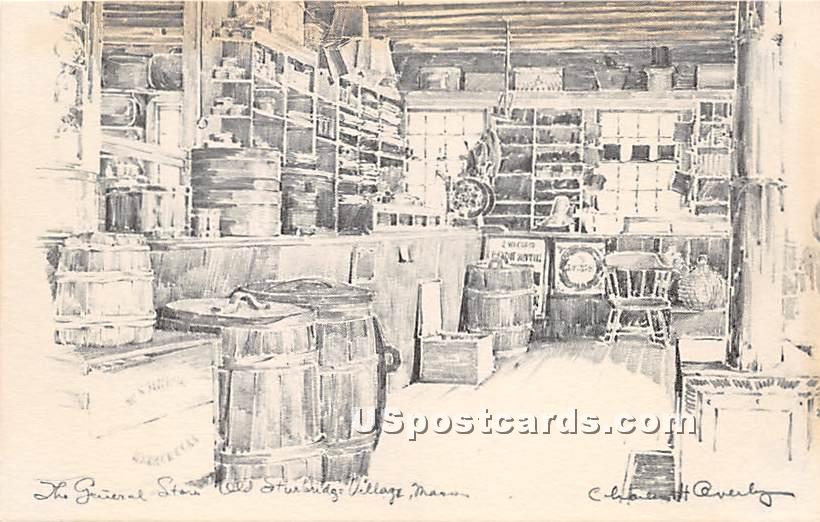 Miner Grant's General Store - Old Sturbridge Village, Massachusetts MA Postcard