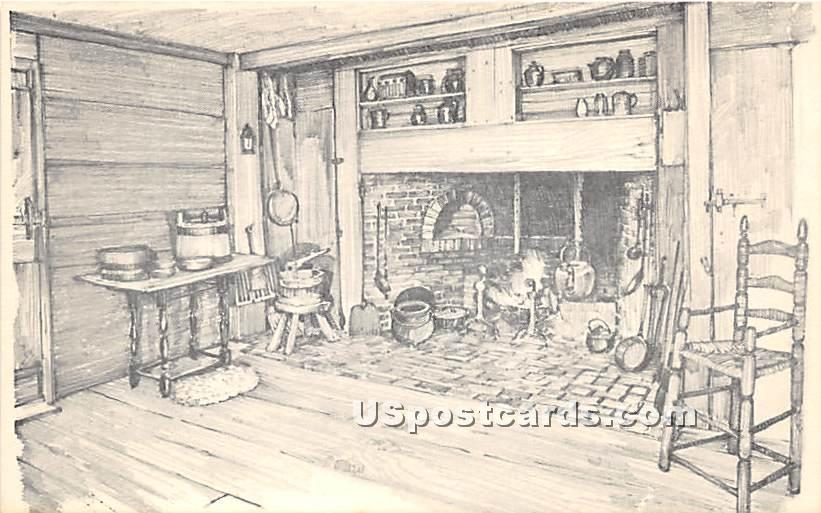 Kitchen of Fenno House - Old Sturbridge Village, Massachusetts MA Postcard