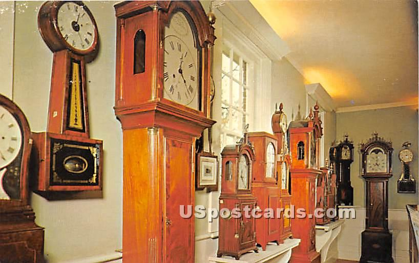 Clock Museum - Old Sturbridge Village, Massachusetts MA Postcard