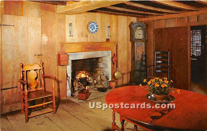East Parlor of the Stephen Fitch House - Old Sturbridge Village, Massachusetts MA Postcard