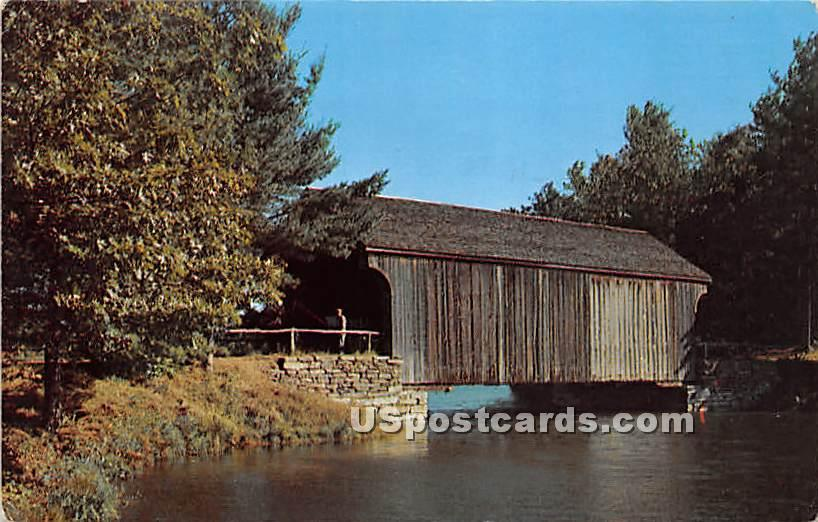 Covered Bridge from Dummerston - Old Sturbridge Village, Massachusetts MA Postcard