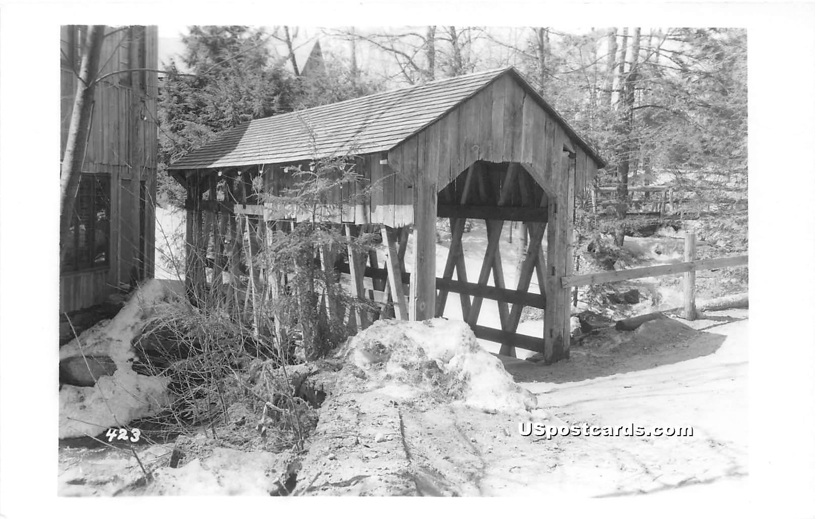 Covered Bridge - Orange, Massachusetts MA Postcard
