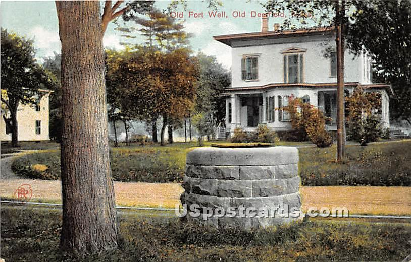 Old Fort Well - Old Deerfield, Massachusetts MA Postcard