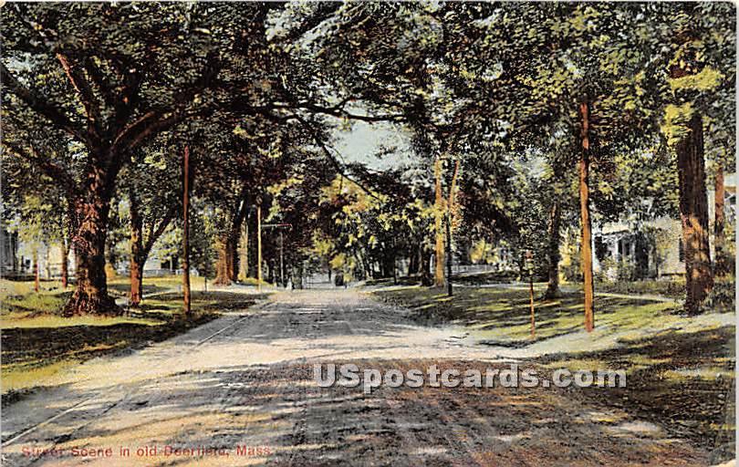 Street Scene - Old Deerfield, Massachusetts MA Postcard