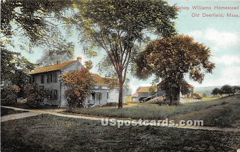 Bishop Williams Homestead - Old Deerfield, Massachusetts MA Postcard