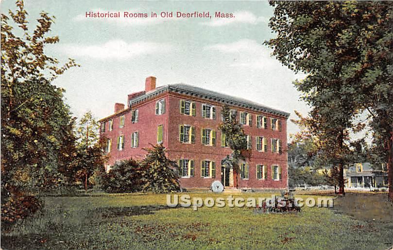 Historical Rooms - Old Deerfield, Massachusetts MA Postcard