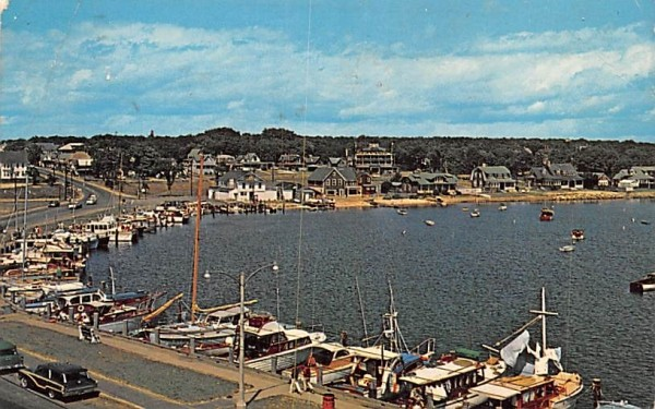 Beautiful landlock harbor Oak Bluffs, Massachusetts Postcard