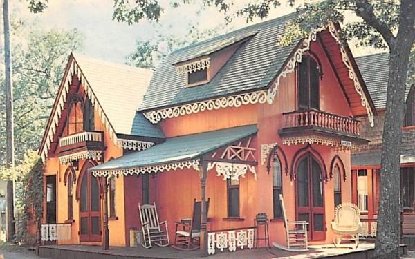 Gingerbread Cottages Oak Bluffs, Massachusetts Postcard