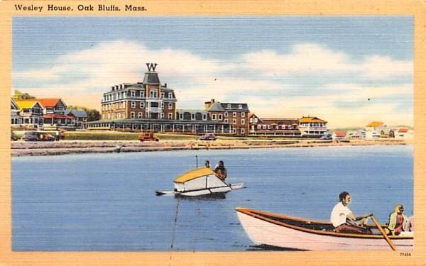 Wesley House Oak Bluffs, Massachusetts Postcard