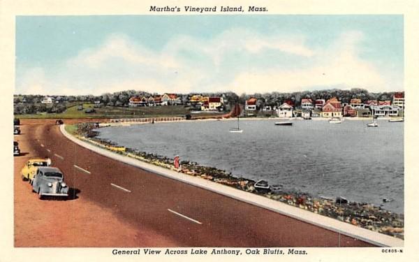 General View Across Lake Anthony Oak Bluffs, Massachusetts Postcard