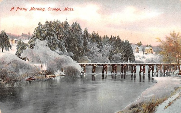 A Frosty Morning  Orange, Massachusetts Postcard