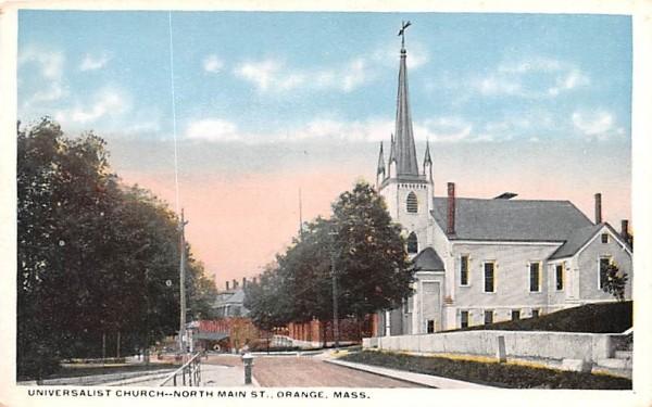 Universalist Church Orange, Massachusetts Postcard