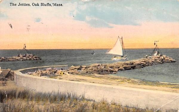 The Jetties Oak Bluffs, Massachusetts Postcard