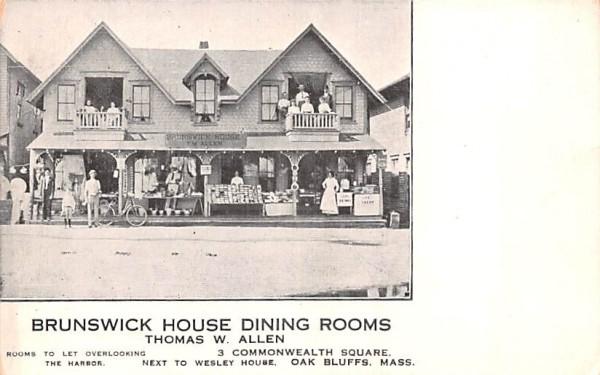 Brunswick House Dining Rooms Oak Bluffs, Massachusetts Postcard